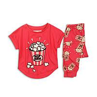 Детская пижама на девочку с принтом, Minoti, размеры от 98 см до 158 см