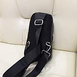 Городской мужской рюкзак сумка из натуральной кожи крокодилий принт, фото 5