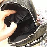 Городской мужской рюкзак сумка из натуральной кожи крокодилий принт, фото 9