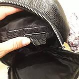 Городской мужской рюкзак сумка из натуральной кожи крокодилий принт, фото 10