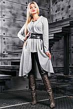 Кардиган як сукня, нижче коліна, з ангори з люрексом. В ельфійське стилі. Сірий