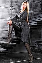 Кардиган як сукня, нижче коліна, з ангори з люрексом. В ельфійське стилі. Чорний