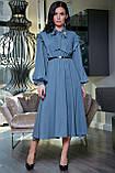 """Летнее платье """"Сексуальная монашка""""закрытое по колено с длинными рукавами, бантом и оборками.Голубое, фото 4"""