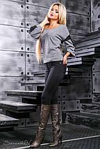 Женские трикотажные леггинсы под джинсы. Черные