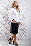 Женская блузка(блуза) свободная, с длинными рукавами, манжетами и воротником. Белая, фото 3