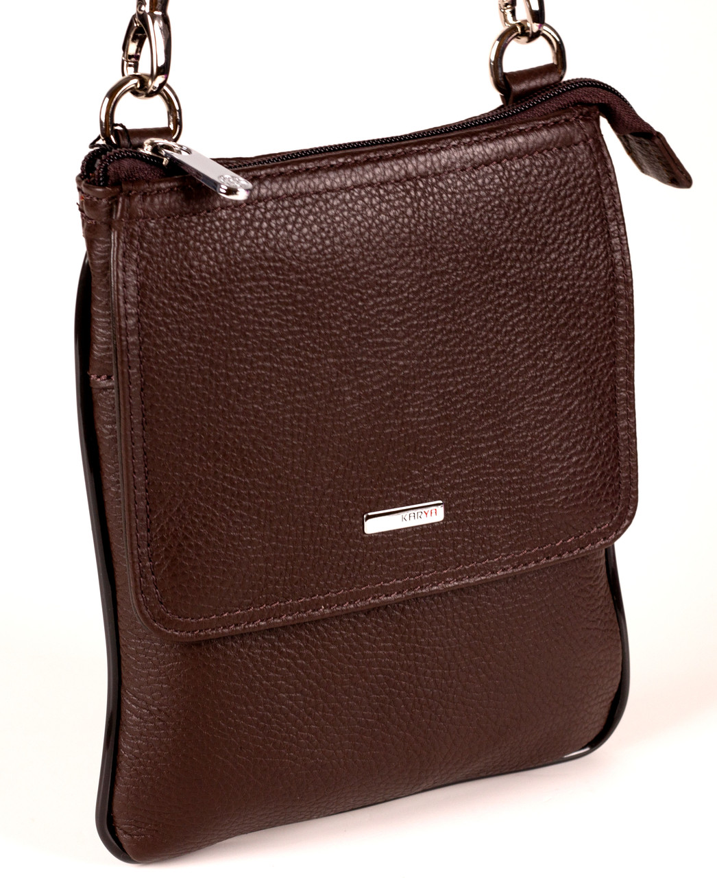 Мужская сумка Karya 0630-39 для документов кожаная коричневая