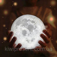 Лампа луна 3D Moon Lamp Настольный светильник луна Moon Light, фото 2