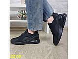 Кроссовки аирмакс черные на амортизаторах компенсаторах силиконовой подушке К2219, фото 4