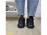 Кроссовки аирмакс черные на амортизаторах компенсаторах силиконовой подушке К2219, фото 5