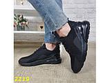 Кроссовки аирмакс черные на амортизаторах компенсаторах силиконовой подушке К2219, фото 8