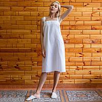 Полотенце на липучке с лямками (килт-парео) вафельное 90х150 см белый