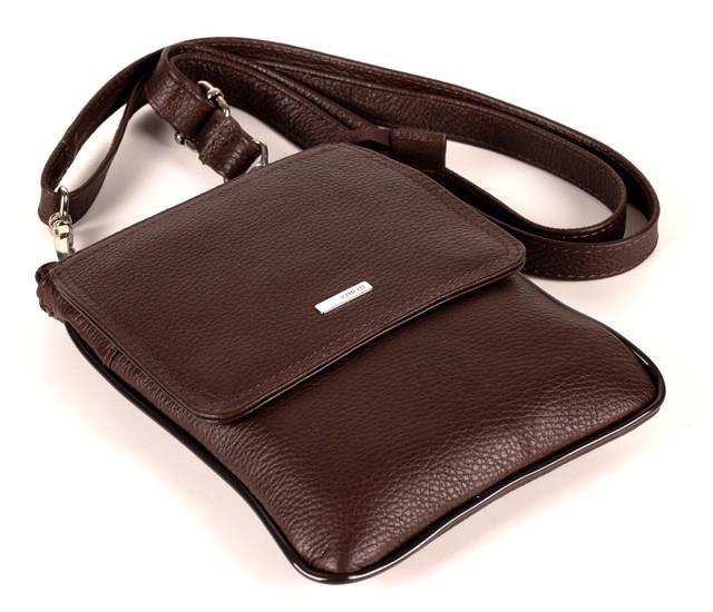 Мужская сумка Karya 0630-39 для документов кожаная черная