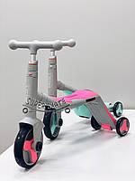 Самокат детский с сиденьем, Самокат Велосипед Scooter Трансформер 2в1
