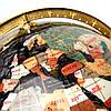 Глобус на подставке золотистой из полудрагоценных камней CLS220, фото 3