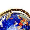 Глобус на подставке золотистой из полудрагоценных камней CLS220, фото 5