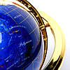 Глобус на подставке золотистой из полудрагоценных камней CLS220, фото 6