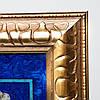 Подарочная карта мира из камня в золотистой оправе 740*540 мм, фото 2