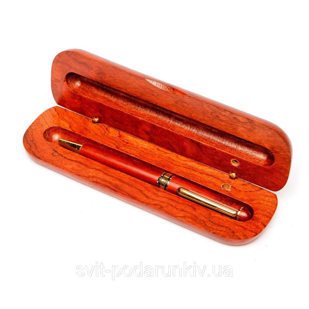 Подарочная ручка шариковая в футляре из дерева DS0501В