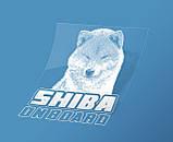 Наклейка на авто / машину Сиба-ину на борту (Shiba on board), фото 2