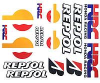Наклейки логотипы лист А3 Repsol