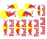 Наклейки логотипы лист А3 RedBull