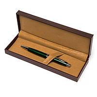 Набор подарочный сувенирный ручка В-013 шариковая в футляре под дерево (зелёная) 1
