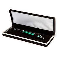Набор подарочный сувенирный ручка Ш-929-В-3 (зелёная) шариковая в бархотном футляре