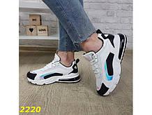 Кроссовки на амортизаторах компенсаторах силиконовой подушке черно-белые К2220