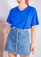 Оверсайз футболка синяя Fruit of the Loom, размер S/M/L/XL, арт. 33-1025