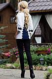 Женская блузка(блуза) прямая, с воротником и рукавами три четверти. Белая, фото 3