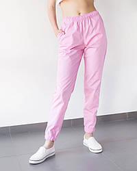 Медицинские женские джоггеры розовые