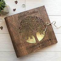 Оригинальный свадебный альбом для фото из дерева, фото 1