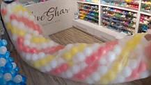 Пакет для гірлянд з кульок білий XXL 110*510см
