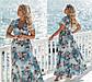"""Очаровательное длинное нарядное платье в больших размерах 2171 """"Софт Цветы Макси Лиф Запах"""" в расцветках, фото 4"""
