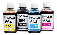 """Чернила для Epson L3050 - Комплект чернил 664 """"INCOLOR"""" 4x180 мл, Black, Cyan, Magenta, Yellow"""