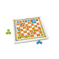 Деревянные нарды и шашки настольные игры для детей ТМ Melissa & Doug MD30380