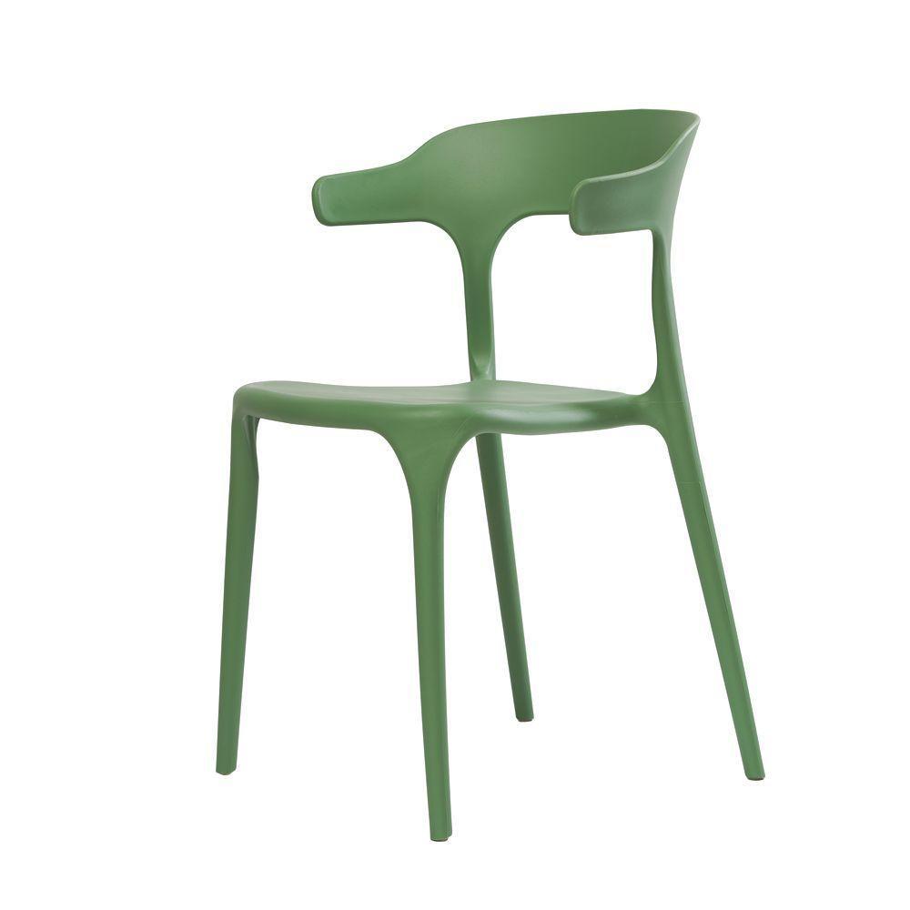 Штабелируемый стул LUCKY (Лакки) зеленый монопластик от Concepto