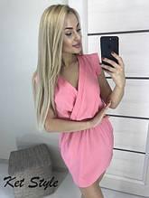Коротке плаття з запахом різні кольори С, М, Л