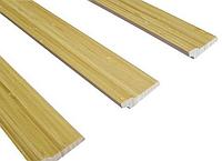Бамбуковый плинтус светлый, фото 1