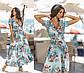 """Чарівне довге ошатне плаття 2170 """"Софт Квіти Максі Ліф Запах"""" в кольорах, фото 2"""