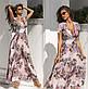 """Чарівне довге ошатне плаття 2170 """"Софт Квіти Максі Ліф Запах"""" в кольорах, фото 4"""