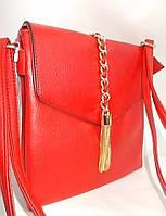 Женский клатч 5357 Red женские сумки через плечо, женские клатчи купить недорого