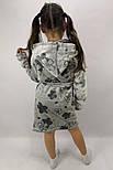 Детский теплый халат Цветочек р.104-146, фото 2