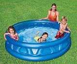 """Дитячий надувний басейн Intex,188х46см """"Літаюча тарілка"""",конус. Басейн для дітей, для малюків 58431, фото 6"""