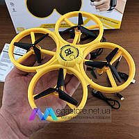 Квадрокоптер с сенсорным управлением Tracker GX дрон детский с подсветкой led на радиоуправлении для детей