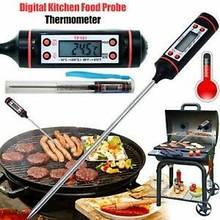 """Термометр электронный кухонный со щупом 1.2"""" жк -50~300°c tp101"""