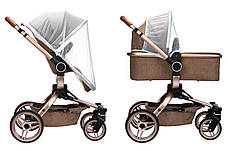 Коляска детская 2в1 V-Baby Miqilong X159 Бежевый (X159-02), фото 3