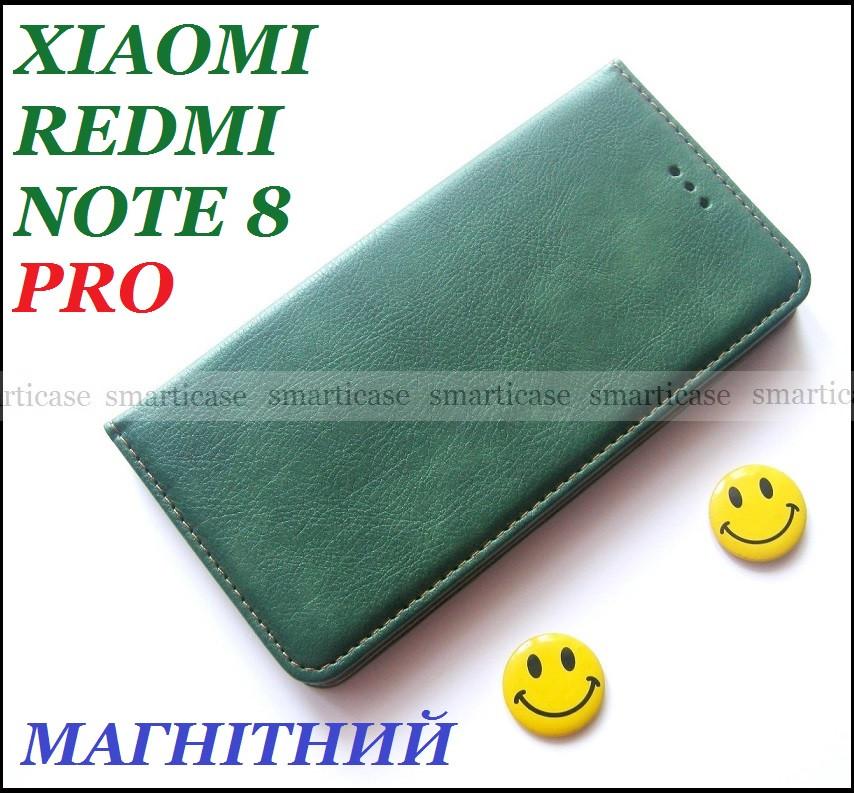 Противоударный чехол книжка Xiaomi Redmi Note 8 Pro Green K'try зеленый