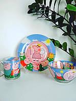 """Набор детской посуды """"Свинка Пеппа"""" 3-х предметный., фото 1"""