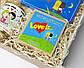 """Набор женский  """"Love is"""" - печенье с предсказаниями, набор шоколада, консервированные носочки, жвачки, фото 4"""